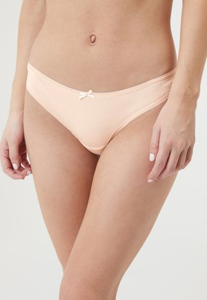 FIVE PACK - Thong - beige