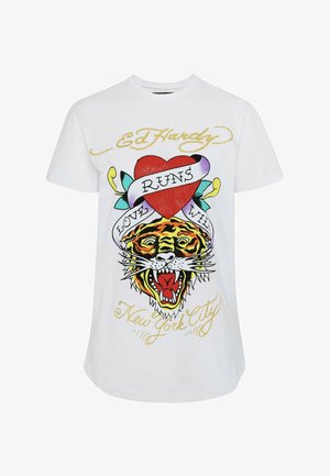 WILD-LOVE T-SHIRT LADIES - Print T-shirt - white