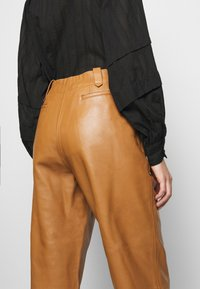 Alberta Ferretti - Leather trousers - brown - 3