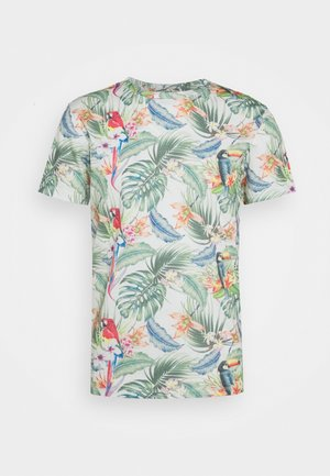 JORTROPICALBIRDS TEE CREW NECK - T-shirt med print - cloud dancer