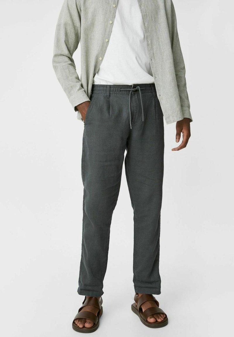 C&A - Trousers - dark green