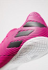 adidas Performance - NEMEZIZ 19.4 IN - Indoor football boots - shock pink/core black - 5
