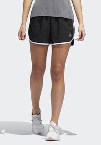 adidas Performance - MARATHON 20 SHORTS - Sportovní kraťasy - black - 0