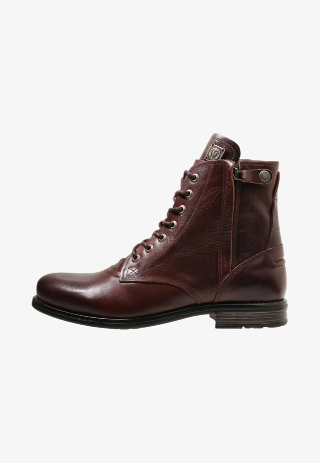 KINGDOM - Lace-up ankle boots - brown