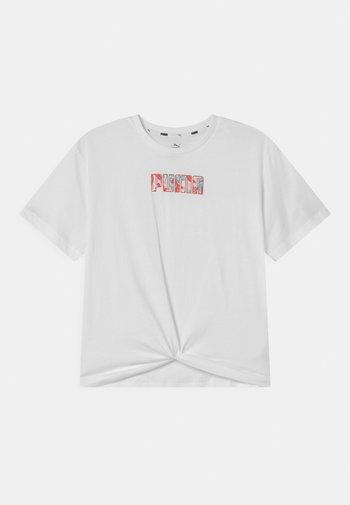 ALPHA SILHOUETTE  - Print T-shirt - puma white