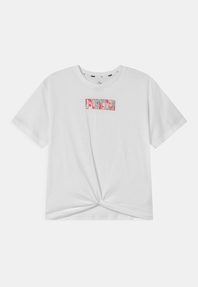 Puma - ALPHA SILHOUETTE  - T-shirt z nadrukiem - puma white