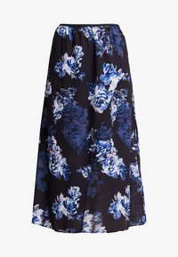 French Connection - CATERINA MIDI WRAP - Wrap skirt - utility blue multi - 3