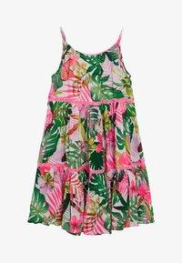 Next - PINK/GREEN PALM PRINT TIERED DRESS - Day dress - pink - 1