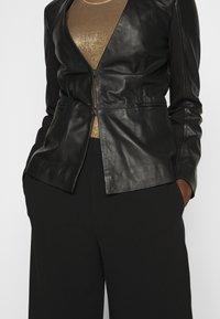 Pinko - BRADLEY JACKET - Leather jacket - black - 5