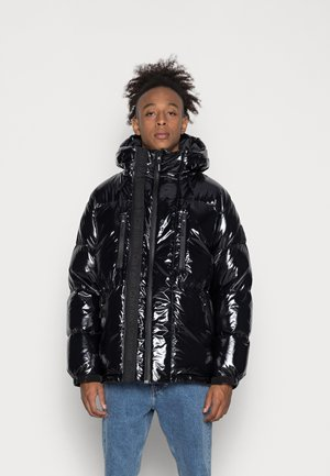 HIGH SHINE MID LENGTH  - Down jacket - shiny black
