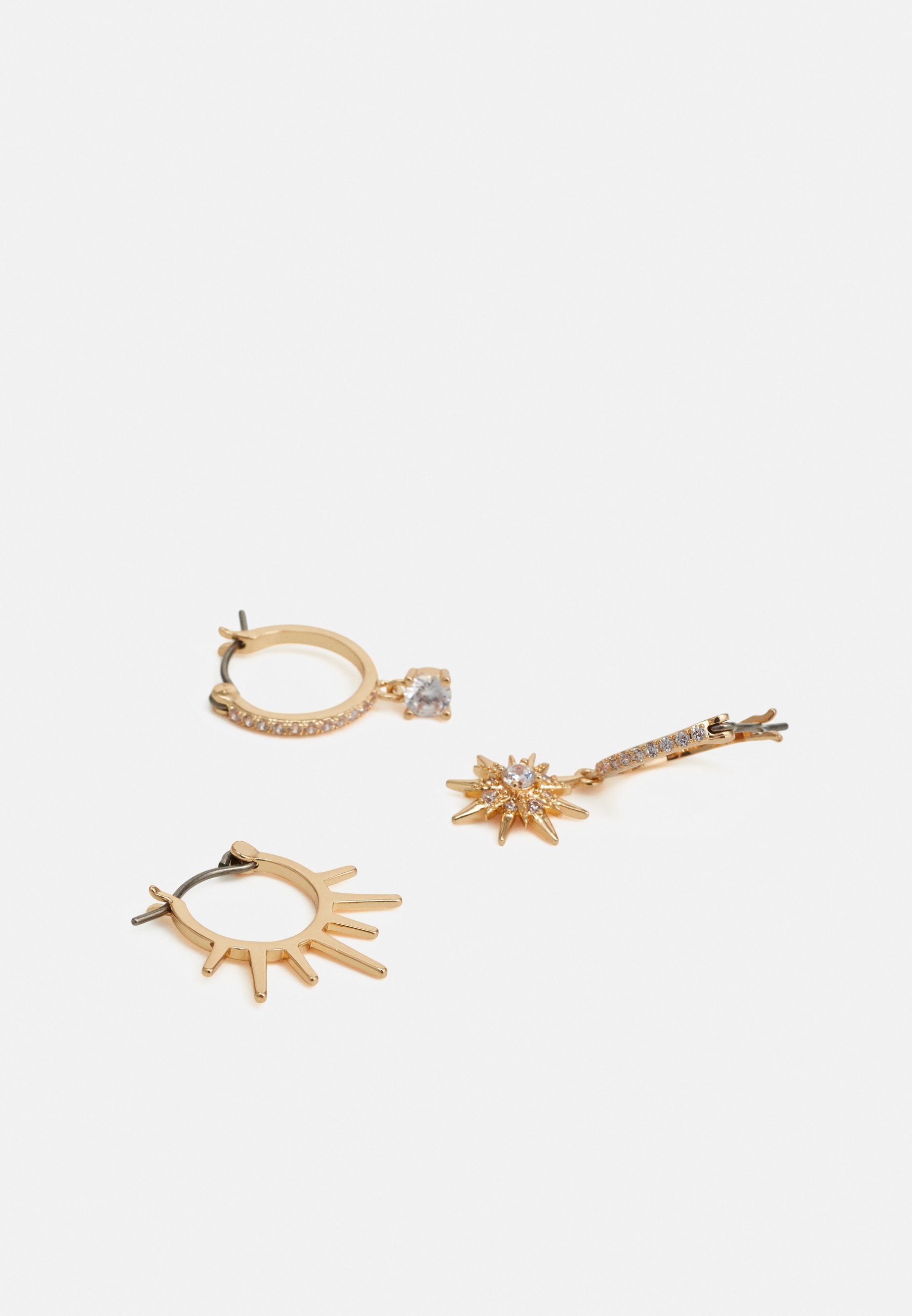 Pieces PCLAYLA EARRINGS 4 PACK - Øredobber - gold-coloured/gull gUK0HD6ZqZpFHxh