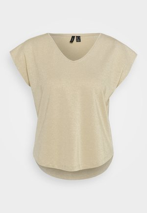 VMSHINE  - Basic T-shirt - birch/gold