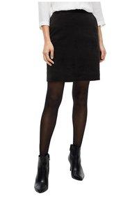 s.Oliver BLACK LABEL - Mini skirt - true black - 5