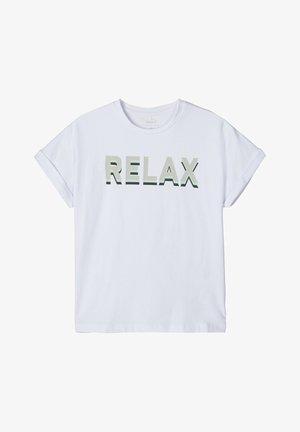 T-SHIRT OVERSIZE - Camiseta estampada - bright white
