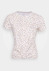 KNOTTED MIDI LEOPARD - Print T-shirt - white