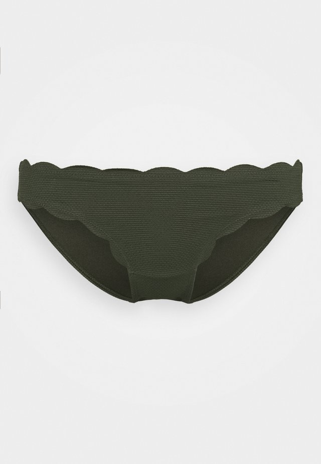 SCALLOP GLAM RIO  - Bikini bottoms - cedar green