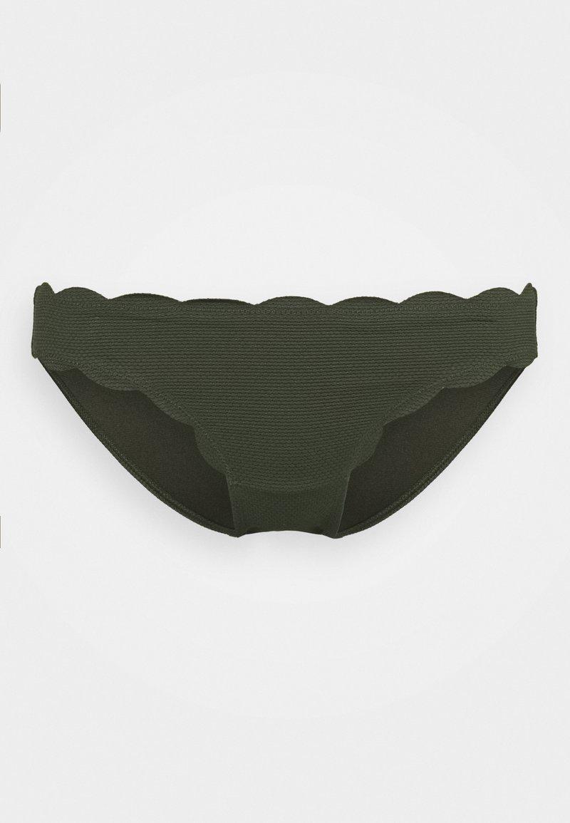 Hunkemöller - SCALLOP GLAM RIO  - Bikinibroekje - cedar green