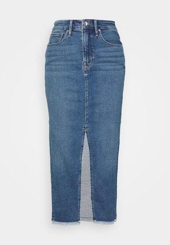 LONGER PENCIL  - Denimová sukně - blue