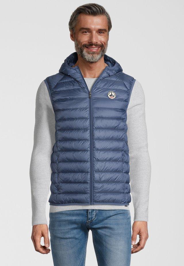 DAUNENWESTE PAT - Waistcoat - bleu jeans