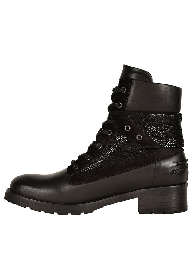 DEDAY - Lace-up ankle boots - black