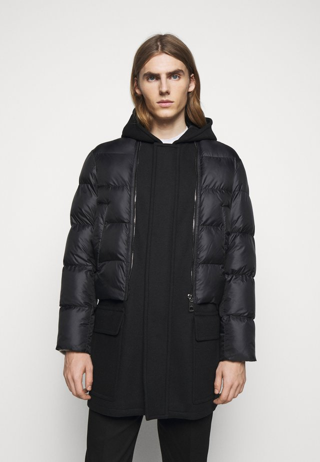 HYBRID PUFFER DUFFLE COAT - Winter coat - black