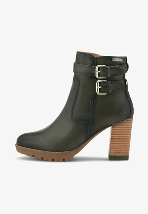 CONNELLY - High heeled ankle boots - dunkelgrün