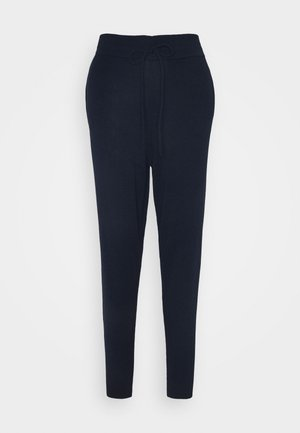 CUFFED JOGGERS WITH FRONT TIE DETAIL - Joggebukse - dark navy