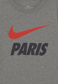 Nike Performance - PARIS ST GERMAIN TEE GROUND - Club wear - grey heather - 3