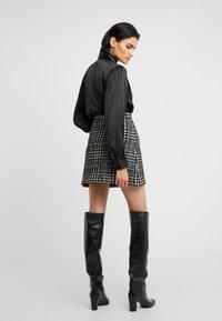 The Kooples - JUPE - A-line skirt - off-white/black - 2