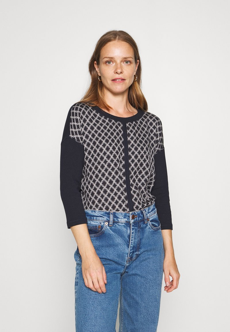 comma casual identity - Long sleeved top - dark blue