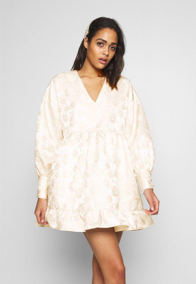 OWN THE THRONE MINI DRESS - Robe de soirée - cream
