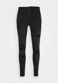 SIKSILK - DISTRESSED PATCH - Jeans Skinny Fit - washed black - 3