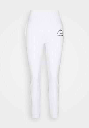 ADDRESS LOGO - Tracksuit bottoms - white