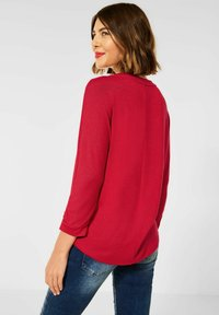 Street One - MIT RAFFUNG - Long sleeved top - rot - 1