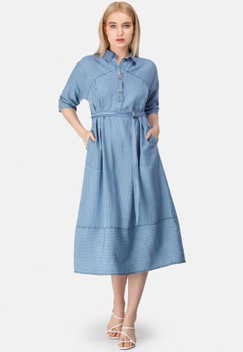 HELMIDGE - Denim dress - blau