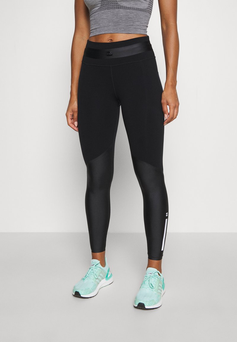 Sweaty Betty - POWER MISSION HIGH WAIST WORKOUT LEGGINGS - Leggings - black