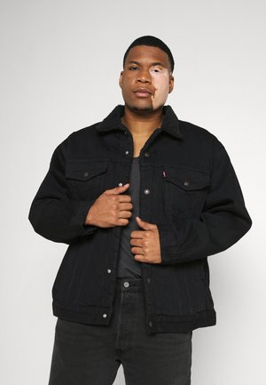 BIG SHERPA TRUCKER - Kurtka jeansowa - black denim