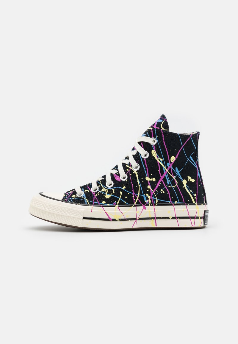 Converse - CHUCK 70 ARCHIVE PAINT SPLATTER PRINT UNISEX - Zapatillas altas - black/hyper magenta/egret