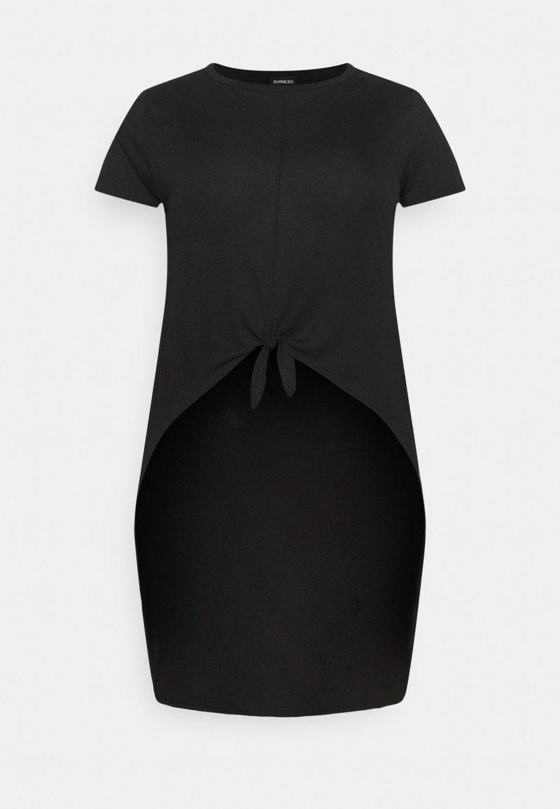 Even&Odd Curvy - T-shirts med print - black