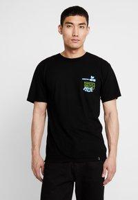 HUF - WOODSTOCK NOBODY CAME TEE - Print T-shirt - black - 2