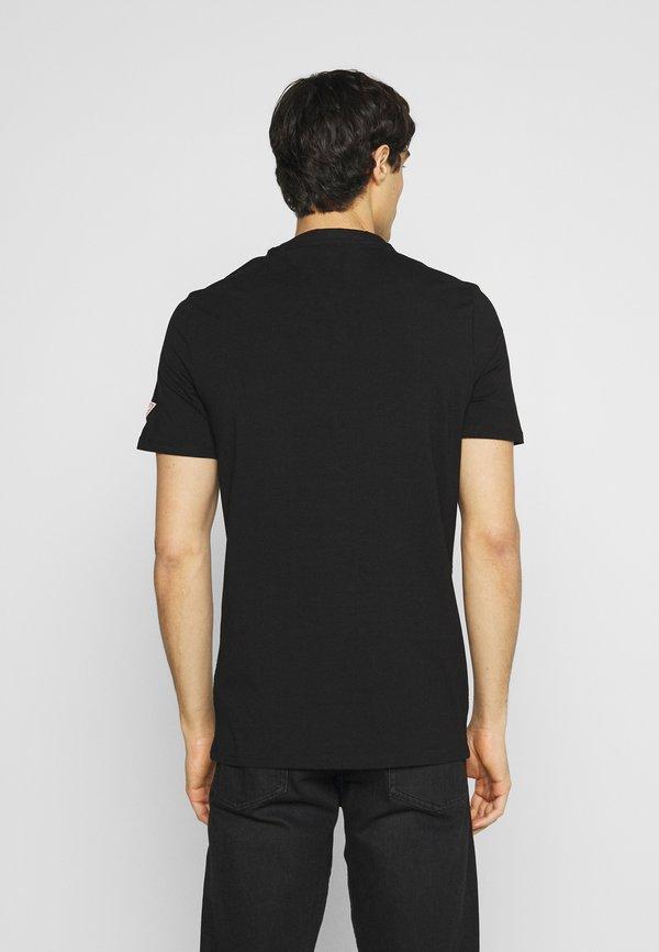 Guess T-shirt z nadrukiem - jet black/czarny Odzież Męska XTUA