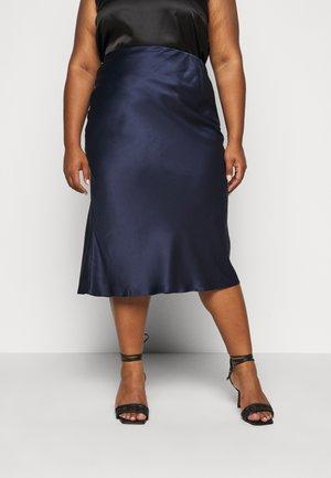 COLUMN MIDI SKIRT - A-line skirt - navy