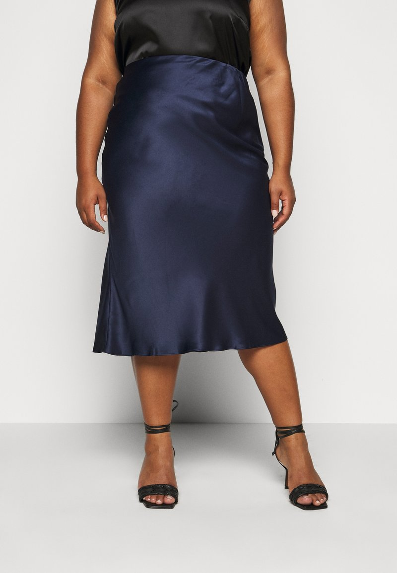 CAPSULE by Simply Be - COLUMN MIDI SKIRT - A-line skirt - navy
