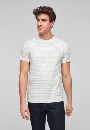 Print T-shirt - off white stripes