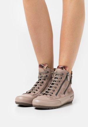 LUCIA ZIP - Höga sneakers - tamponato/perseus stone/tortora/beige