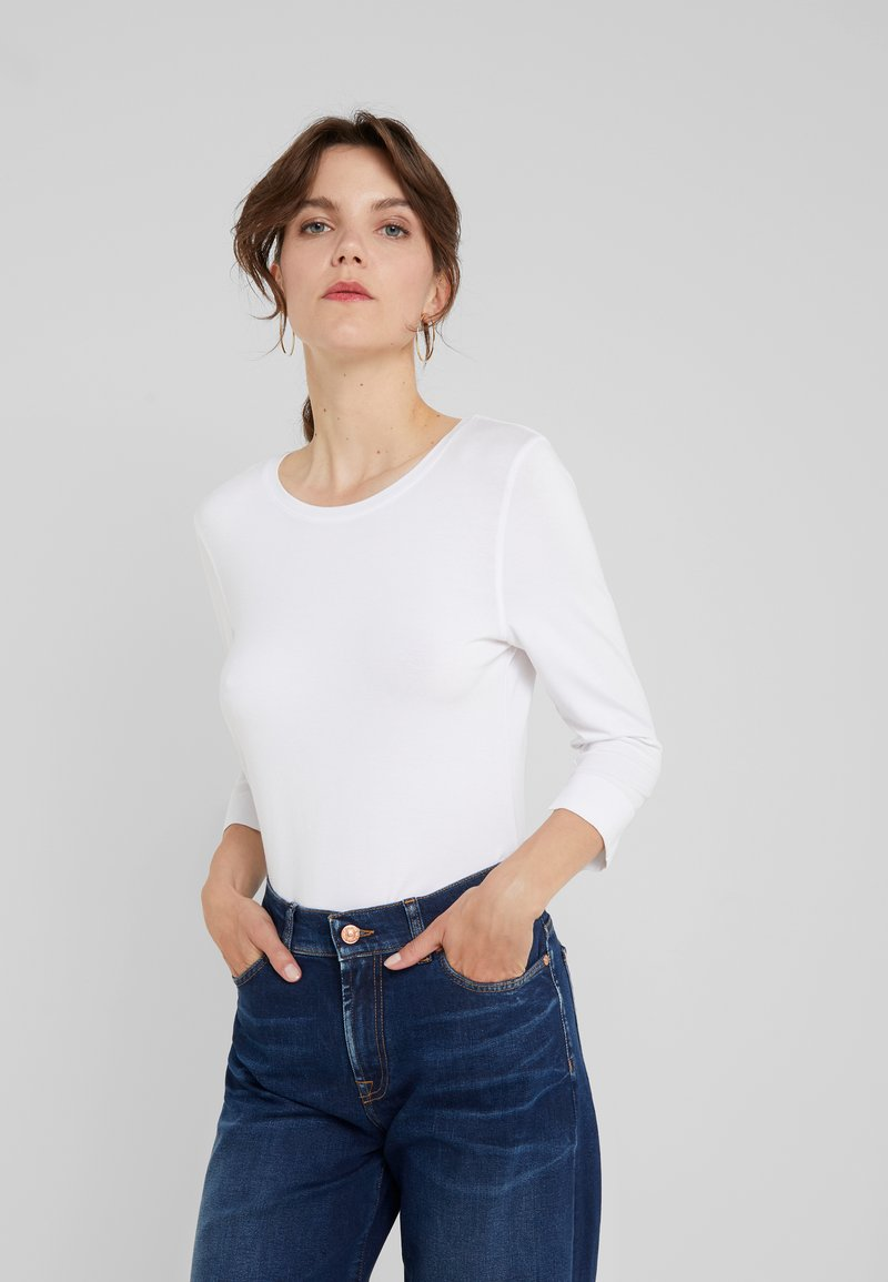 RIANI - Long sleeved top - white