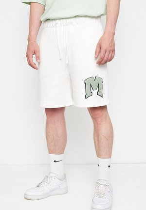 M EMBROIDERY - Shorts - off white