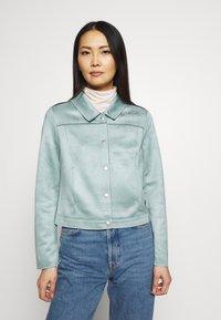 comma - JACKET - Faux leather jacket - smokey blue - 0