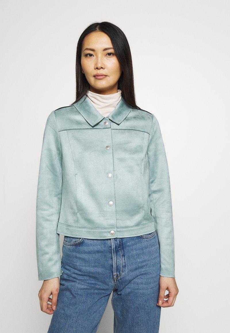 comma - JACKET - Faux leather jacket - smokey blue