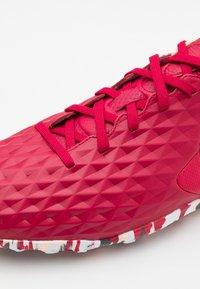 Nike Performance - TIEMPO LEGEND 8 PRO TF - Astro turf trainers - cardinal red/black/crimson tint/white - 5